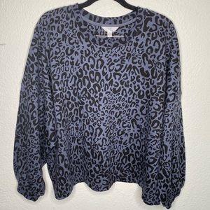 Time and tru leopard print Crewneck sweater